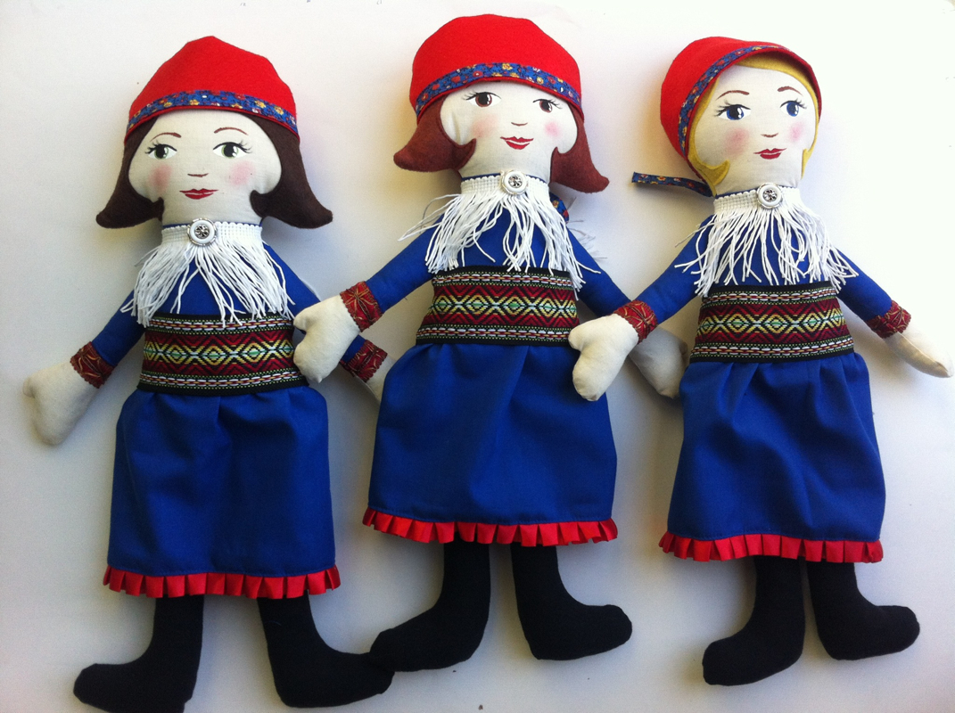 Norwegian Sami Dolls by Hen and Chick