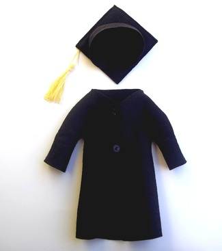 handmade custom graduation doll clothes