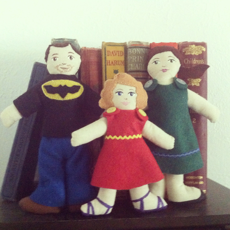 Custom Made Small Doll Family by Hen and Chick