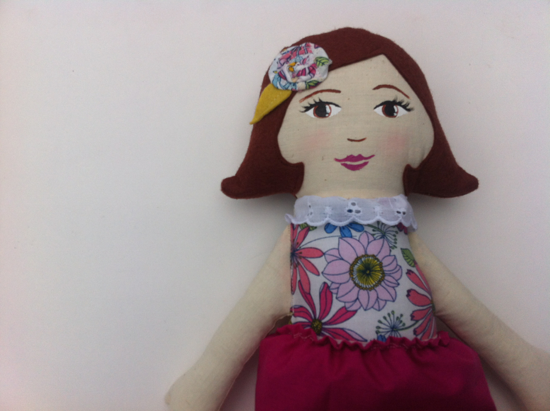 Cute Flower Girl Doll