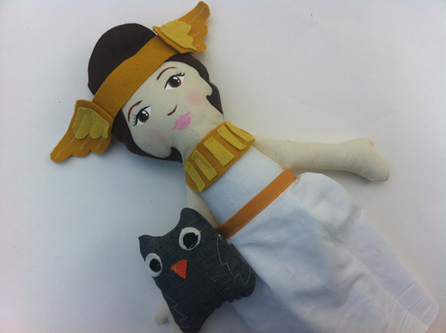 Athena, Goddess of Wisdom doll by Hen and Chick