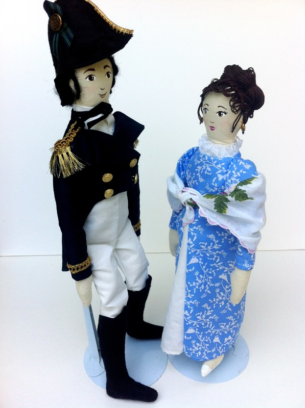 Jane Austen Art Dolls by Hen and Chick