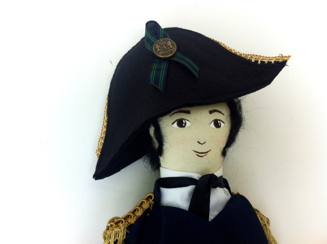 Captain Wentworth Jane Austen Art Doll by Hen and Chick