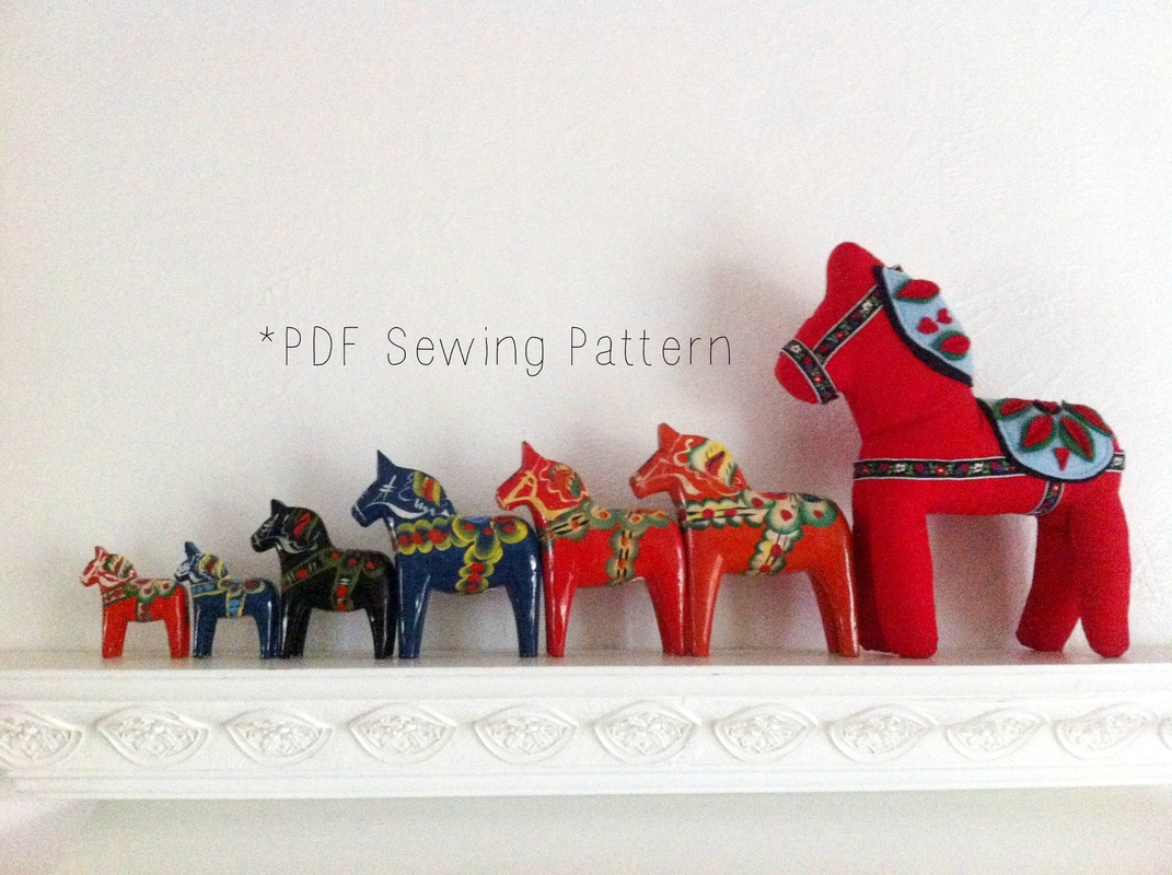 Dala Horse Plush PDF Sewing Pattern