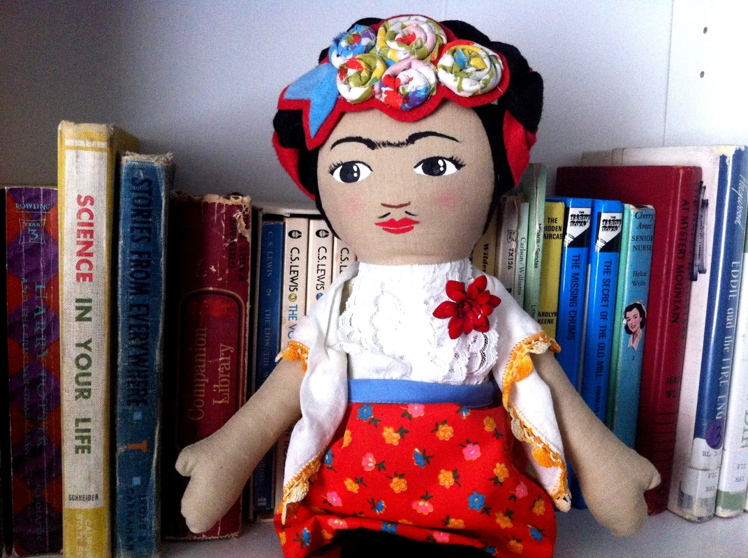 Frida Kahlo doll by Hen and Chick
