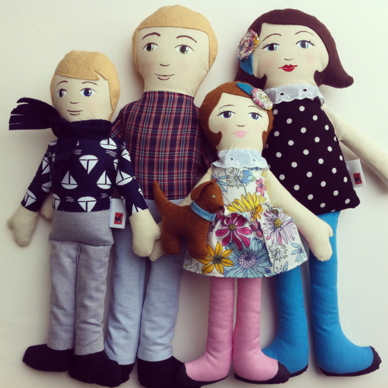 Custom Doll Family by Hen and Chick