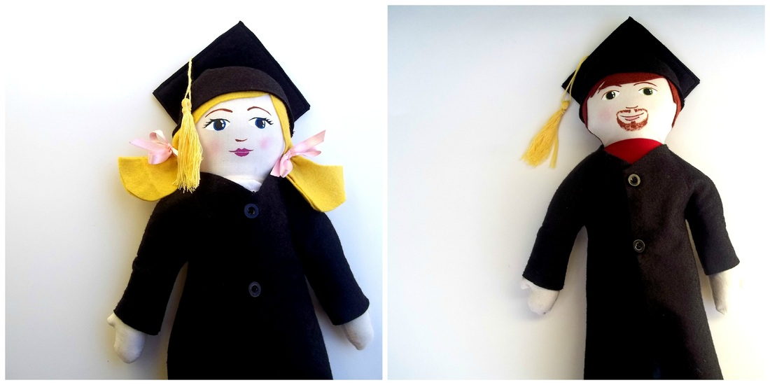 handmade custom graduation doll