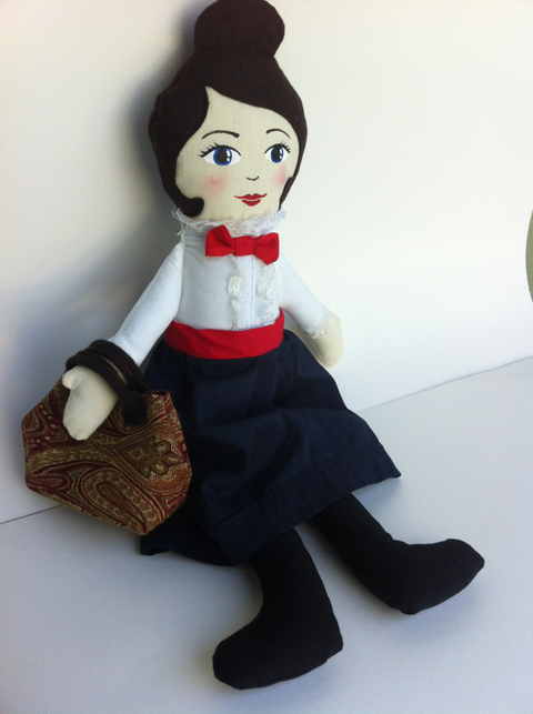Handmade Mary Poppins Doll by Hen and Chick