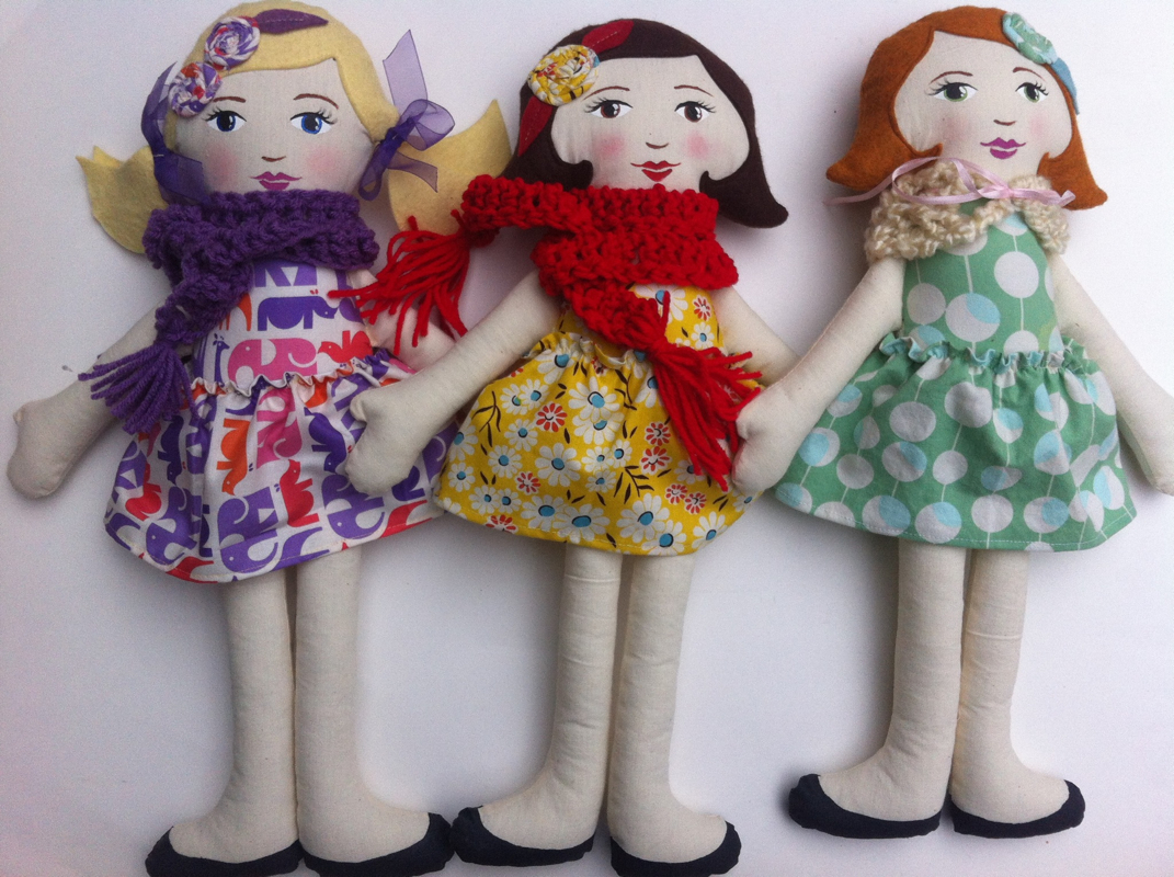 Custom Hen and Chick dolls